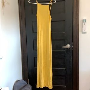 sunshine yellow maxi dress